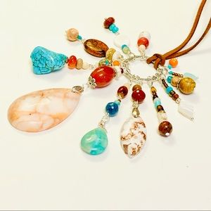 NATIVE LANDS Mixed Stone Assemblage Necklace